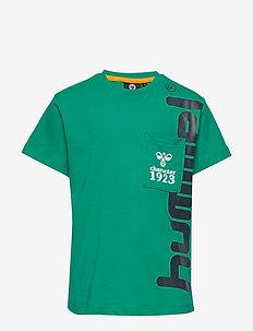 hmlTORBEN T-SHIRT S/S - logo - deep green