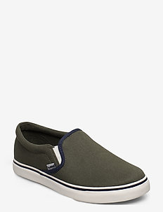 SLIP-ON JR - tenisówki - deep lichen green