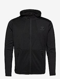 hmlASTON ZIP HOODIE - basic sweatshirts - black