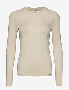 hmlCLEA SEAMLESS T-SHIRT L/S - bluzki z długim rękawem - bone white