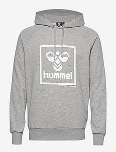 hmlISAM HOODIE - hettegensere - grey melange