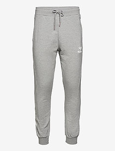 hmlISAM REGULAR PANTS - trainingshosen - grey melange