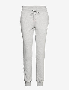 hmlNONI REGULAR PANTS - byxor - grey melange
