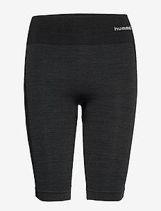 hmlCLEA SEAMLESS CYCLING SHORTS - training shorts - black melange