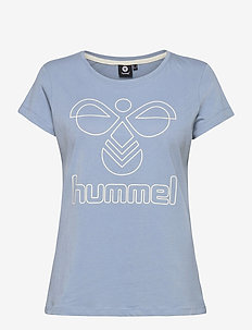 hmlSENGA T-SHIRT S/S - logo t-shirts - faded denim