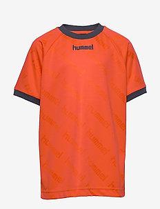 hmlLUCAS T-SHIRT S/S - MANDARIN RED