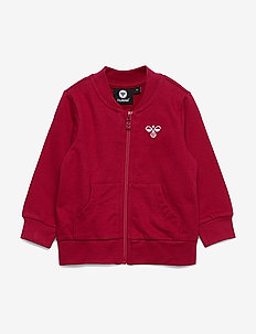 hmlJUNO ZIP JACKET - sweatshirts - rio red