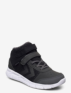 CROSSLITE WINTER MID TEX JR - sneakers - asphalt/black