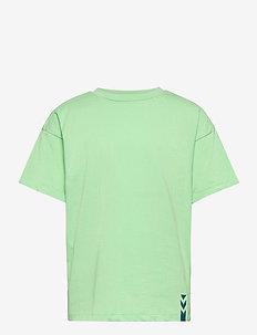 hmlETHAN T-SHIRT S/S - kortærmede t-shirts - green ash