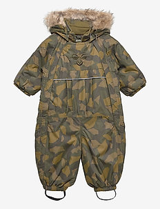 hmlMOON SNOWSUIT - schneeanzug - olive night/ ecru olive