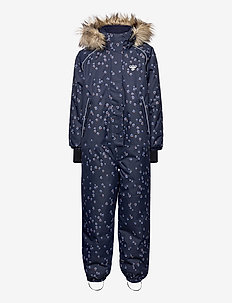 hmlICY SNOWSUIT - schneeanzug - black iris/marlin
