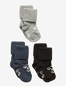 SORA 3-PACK SOCK - socks - black/grey melange/blue nights