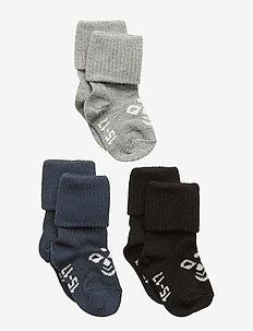 SORA 3-PACK SOCK - strømper - black/grey melange/blue nights