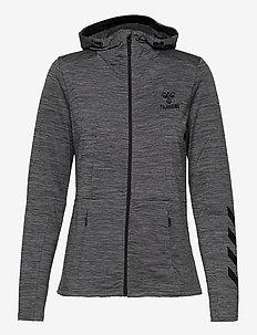 hmlSELBY ZIP HOODIE - hoodies - dark grey melange