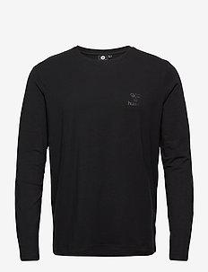 hmlSIGGE T-SHIRT L/S - langarmshirts - black