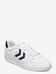 HB TEAM LEATHER - låga sneakers - white/navy