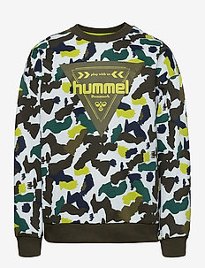 hmlTOKYO SWEATSHIRT - sweat-shirt - lime punch