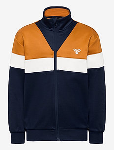 hmlKENTARO ZIP JACKET - sweat-shirt - pumpkin spice