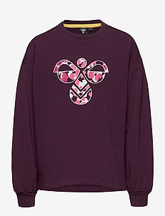 hmlSHIKOKO SWEATSHIRT - sweatshirts - blackberry wine