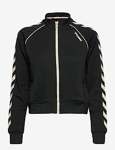 hmlZIBA SHORT ZIP JACKET - sweatshirts - black
