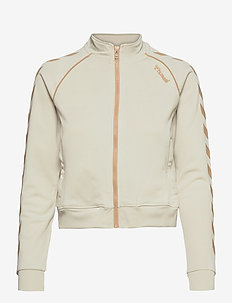 hmlZIBA SHORT ZIP JACKET - sweatshirts - bone white