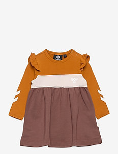 hmlVICTORIA DRESS L/S - dresses - marron