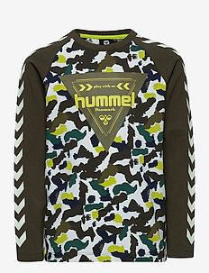 hmlHOKKAIDO T-SHIRT L/S - long-sleeved t-shirts - lime punch