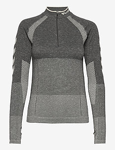 hmlDAWN SEAMLESS HALF ZIP - sweats et sweats à capuche - magnet melange