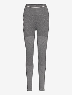 hmlDAWN SEAMLESS HIGH WAIST TIGHTS - sportleggings - magnet melange