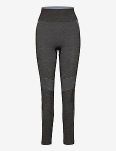 hmlSKY HIGH WAIST SEAMLESS TIGHTS - running & training tights - black/faded denim