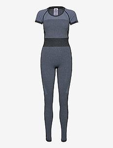 hmlSKY SEAMLESS JUMPSUIT - tops & t-shirts - black/faded denim