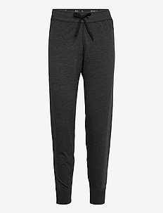 hmlIVY SEAMLESS TAPERED PANTS - byxor - black melange