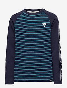 hmlPETE T-SHIRT L/S - long-sleeved t-shirts - capri breeze