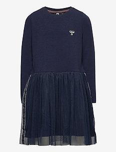 hmlMAE DRESS L/S - dresses - black iris