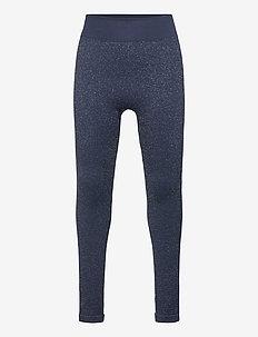 hmlJULIA SEAMLESS TIGHTS - leggings - black iris