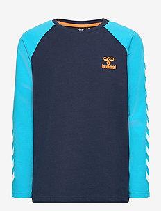 hmlMICHAEL T-SHIRT L/S - dlugi-rekaw - scuba blue