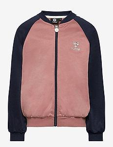 hmlLINE ZIP JACKET - sweatshirts - black iris