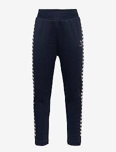 hmlLINE PANTS - joggings - black iris