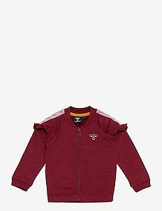 hmlBLESS ZIP JACKET - sweat-shirt - cabernet