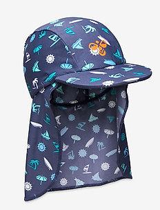 hmlBEACH SUN HAT - hats - dark denim
