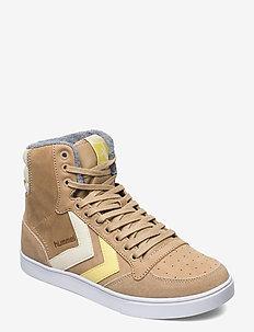 SLIMMER STADIL DUO OILED HIGH - höga sneakers - lark melange