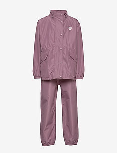 hmlREVA RAINSUIT - shell clothing - dusky orchid