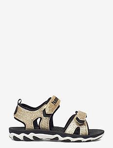 SANDAL SPORT GLITTER JR - sport shoes - gold
