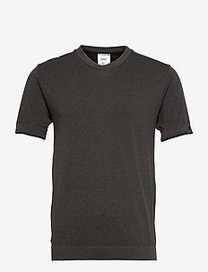 hmlJOE SEAMLESS T-SHIRT - topy sportowe - black melange