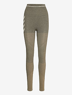 hmlHANA SEAMLESS HIGH WAIST TIGHTS - juoksu- & treenitrikoot - vetiver melange