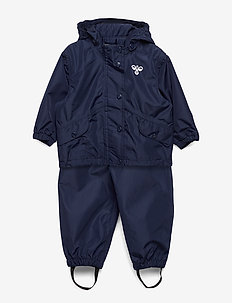 hmlREVA RAINSUIT MINI - zestawy - black iris