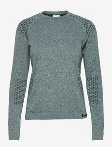 hmlCI SEAMLESS T-SHIRT L/S - bluzki z długim rękawem - darkest spruce melange