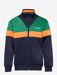 hmlKENTARO ZIP JACKET - sweatshirts - ultramarine green