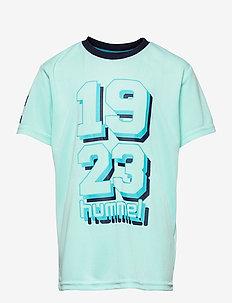 hmlSHADOW T-SHIRT S/S - short-sleeved t-shirts - blue tint