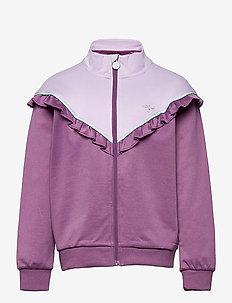 hmlJEWEL ZIP JACKET - sweatshirts - chinese violet